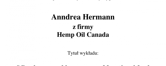 Wyklad Anndrea Hermann Hemp Oil Canada